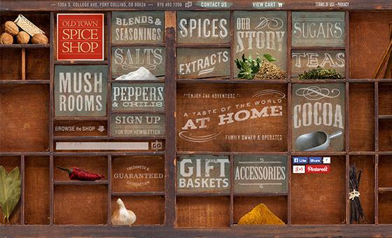 instantShift - Spice Shop Website with Creative Wood Shelf Texture