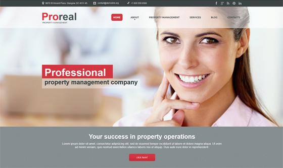 Website Design with Top Navigation