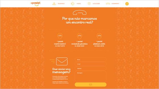 Maispastel Website with Complex Color Combination