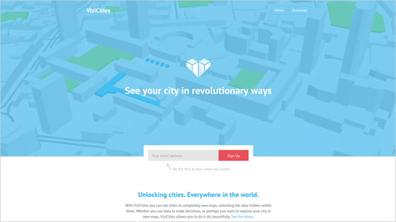 ViziCities Website with Colorful Design and Brigh Accents