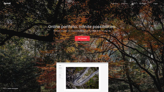 Portfolio Website with Beautiful Pastel Design and Red CTA
