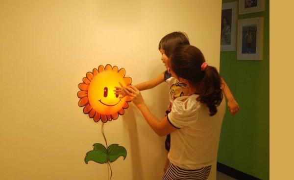 Fun atmosphere wallpaper wall lamp