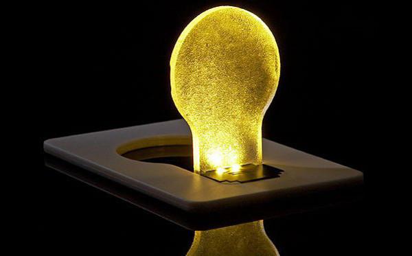 LED Pocket Credit Card Wallet Light Bulb