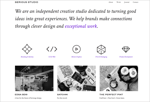 Serious Studio Site with Original Menu Shapes