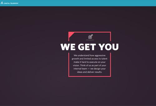 Digital Telepathy Website Design