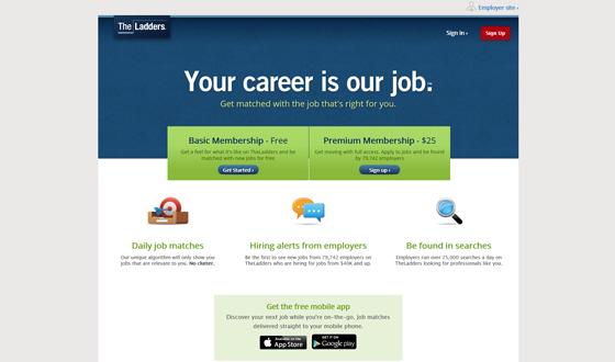 Job Website Design - The Ladders