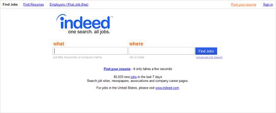 Job Website Design - Indeed