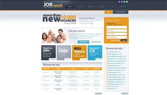 Job Website Design - Web Template