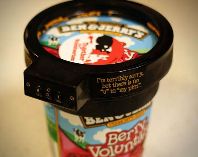 The Uphoria-lock ice cream lock keeps your ice cream safe from others.