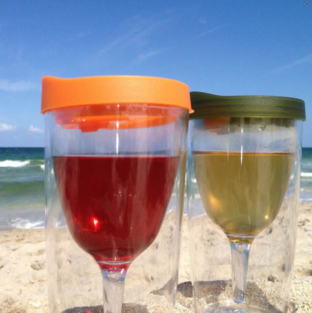 Wine glass sippy cups for clumsy adults.