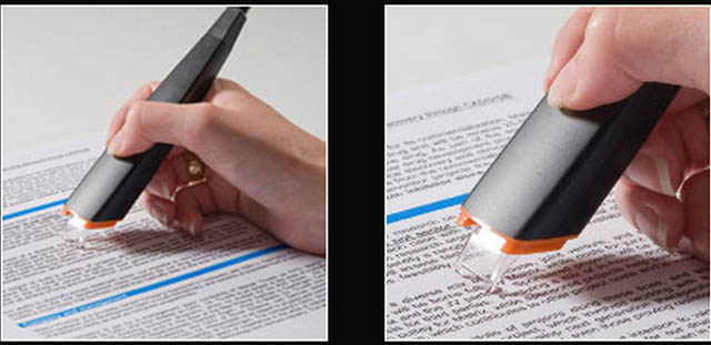 Clever Inventions - A highlighter that reads text off paper and uploads it to a computer.