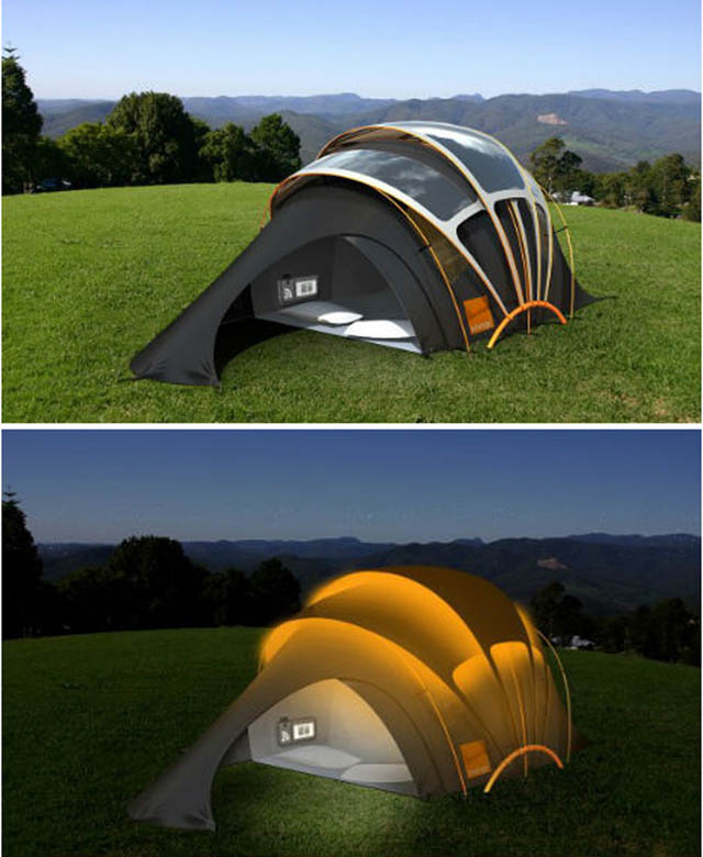 Clever Inventions - Solar-Powered tent for your night fun.