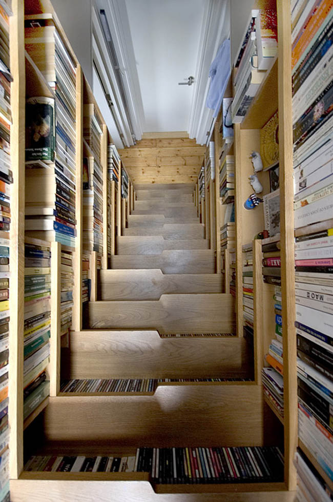 Creative Space-Saving Furniture Design - Bookcase Staircase