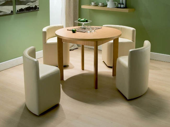 Creative Space-Saving Furniture Design - Dining Table And Chairs