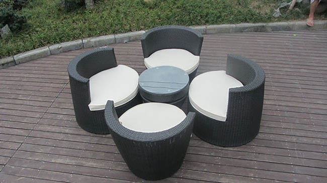 Beautifully Stacked Chairs And Table