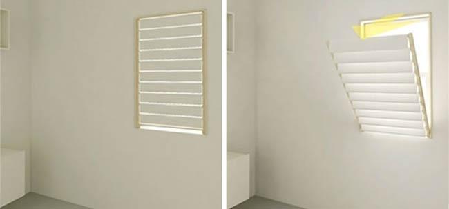 Window Blinds Folds As A Rack