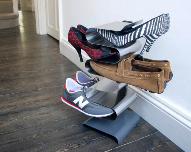 Creative Space-Saving Furniture Design - Nest Shoe Rack