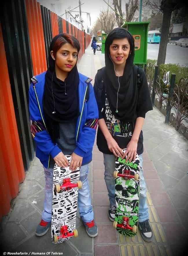 Skater girls in Tehran.