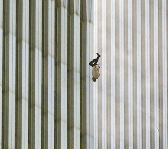 Man Falling from the World Trade Center on 9/11.