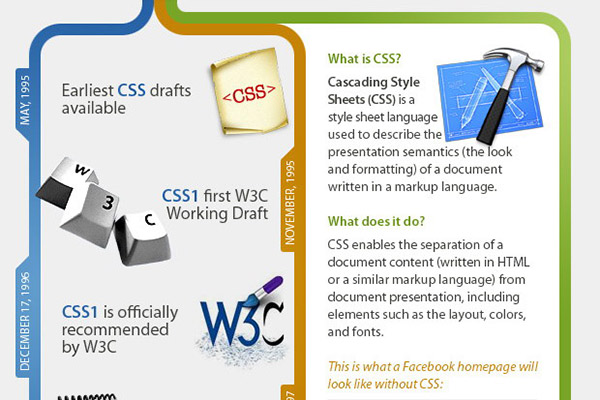 CSS Infographic - Interesting Facts and History