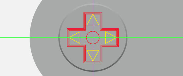 Create the Crossed Area and the Buttons
