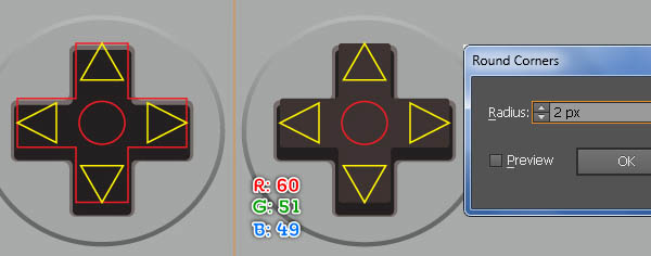 Fill the Objects at the Crossed Area