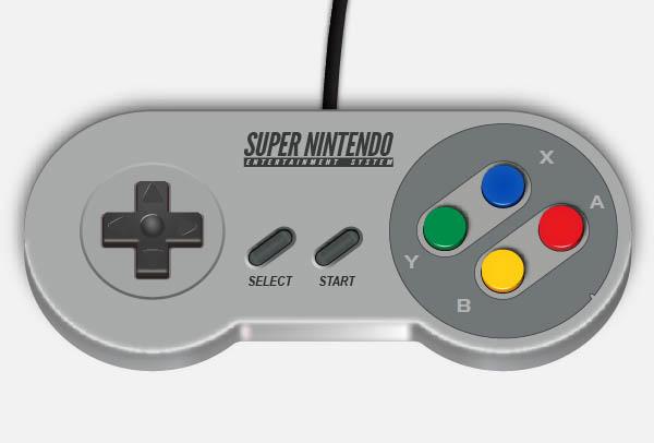 Create a Super Nintendo Controller in Illustrator - Final Result