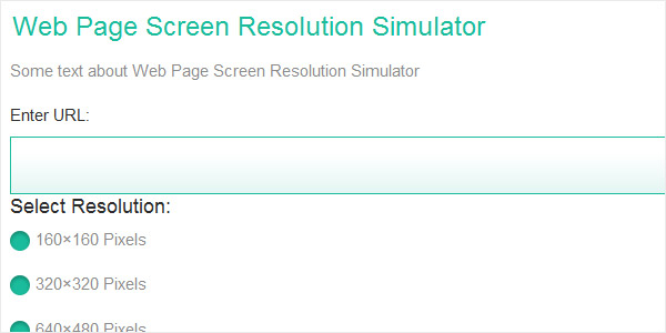 Web Page Screen Resolution