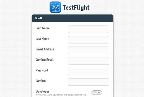 Excellent Sign Up Forms - TestFlight