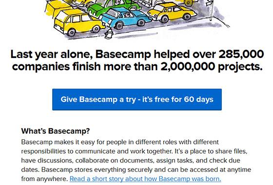 Excellent Sign Up Forms - Basecamp