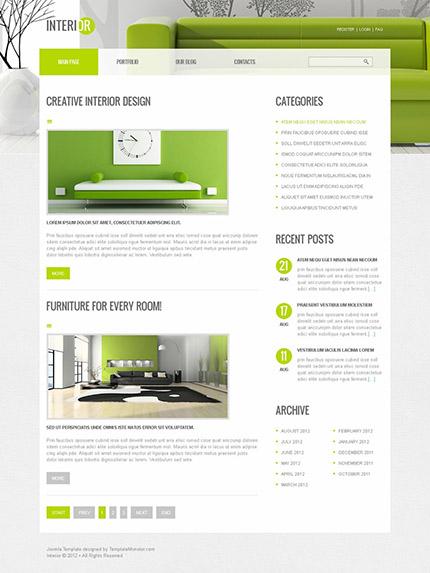 Free Joomla Interior Design Template