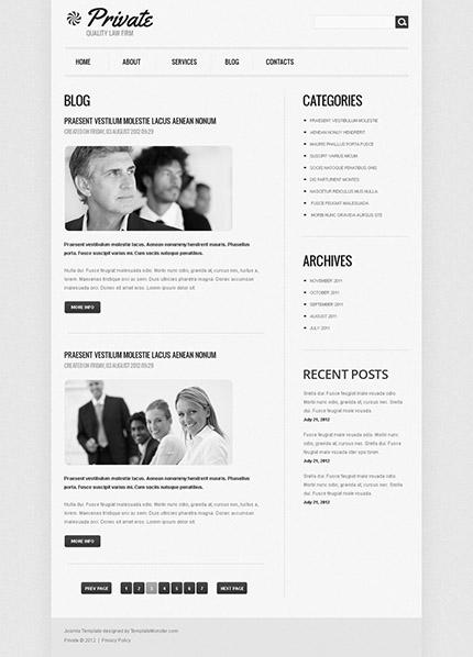 Free Joomla Law Agency Template