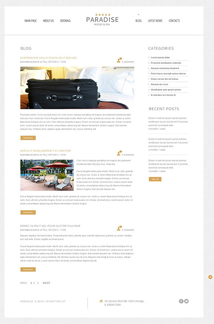 Free WordPress Hotel Services Template