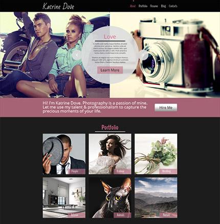 Free HTML5 Photo Studio Website