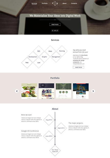 Free HTML5 Personal Website Template