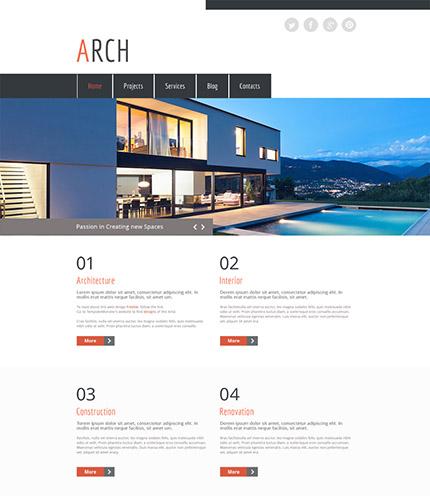 Free HTML5 Architect Portfolio Site