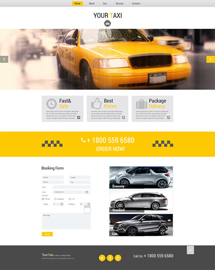 Free HTML5 Taxi Services Theme