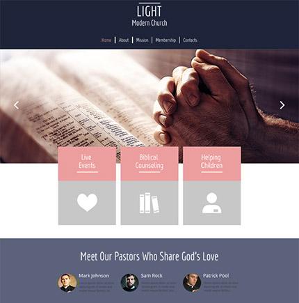 Free HTML5 Christ the Saviour Theme