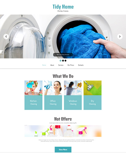 Free HTML5 Cleaning Services Website
