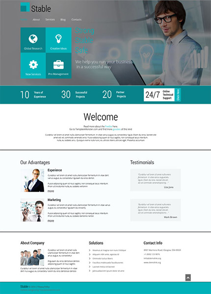 Free HTML5 Responsive Theme for Consulting Agency
