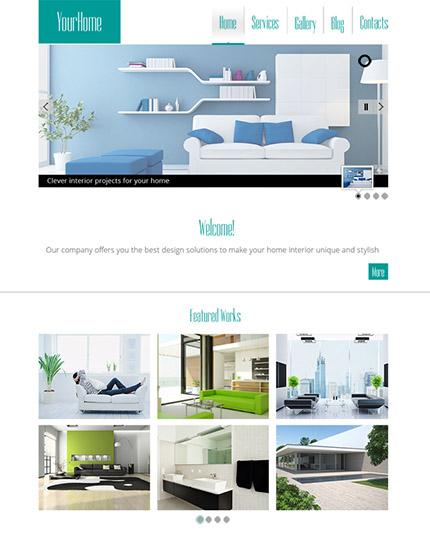 Free HTML5 Interior Design Website