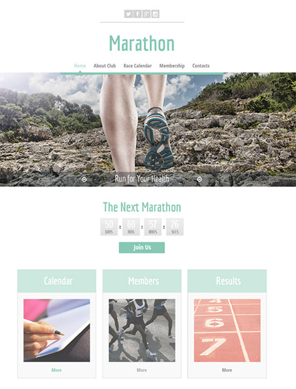 Free HTML5 Sports Template