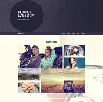 Free Responsive HTML5 Theme for Photo Studio