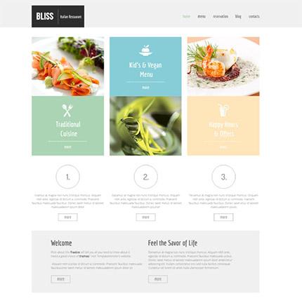 Free HTML5 Restaurant Deluxe Website