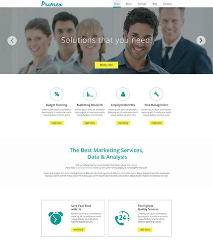 Free Responsive Marketing Company HTML5 Theme