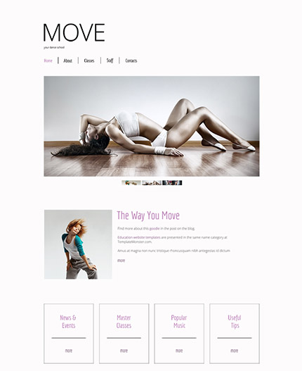 Free HTML5 Dancing Lessons Theme