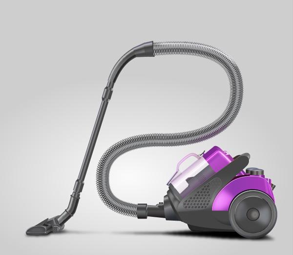 Create a Vacuum Cleaner in Illustrator - Final Result