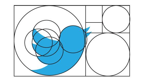 Golden Ratio in Twitter Logo