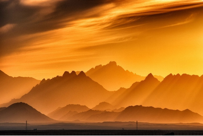 Sunset in the mountains, Egypt