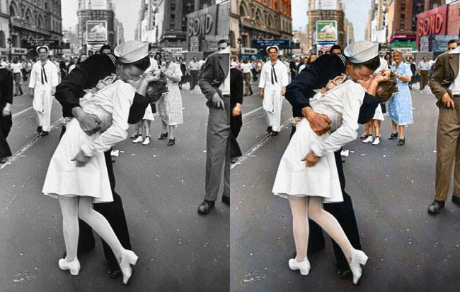 Kissing the War Goodbye, V-J Day August 14, 1945